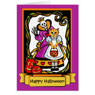 Halloween Cat as Alice Card