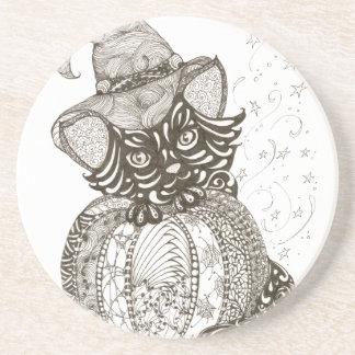 Halloween Cat Coasters
