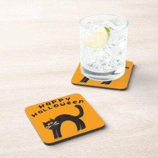 Halloween Cat Beverage Coasters