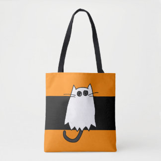 Halloween Cat Costume Ghost Trick or Treat Bag