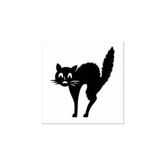 Halloween Cat Custom Rubber Stamp