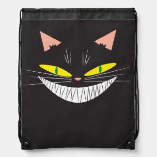 Halloween Cat Drawstring Backpacks
