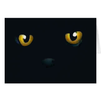 Halloween - Cat Eyes Greeting Cards