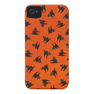 Halloween Cat Pattern iPhone 4 Covers