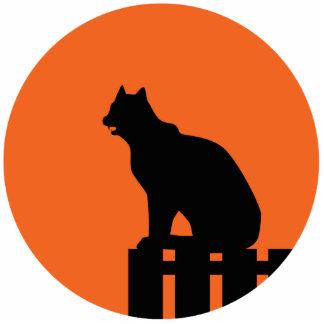Halloween Cat Photo Sculpture Key Ring
