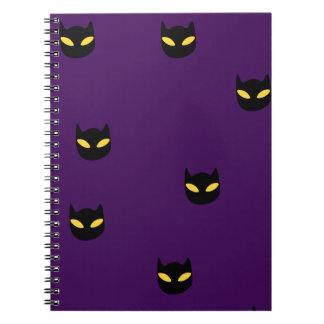 Halloween Cat Print Notebooks