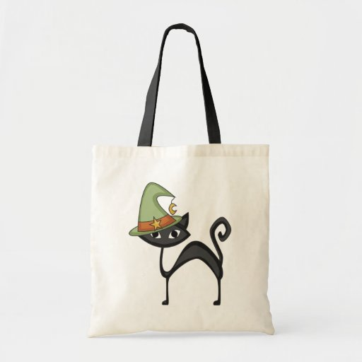 Halloween Cat T-shirts and Gifts Canvas Bags