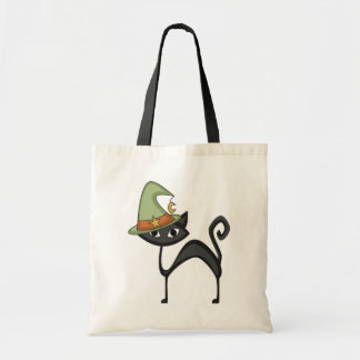 Halloween Cat T-shirts and Gifts Budget Tote Bag