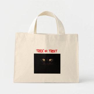 halloween-cat, TRICK  or  TREAT Tote Bags
