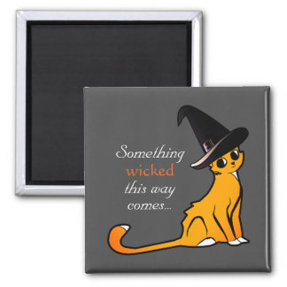 Halloween Cat Witch - Magnet