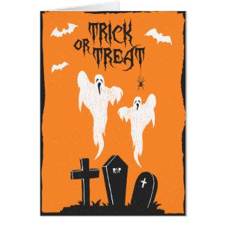 Halloween Cemetery Card