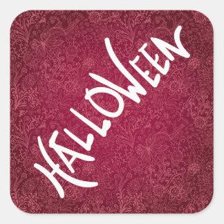 Halloween Characters Minimal Square Sticker