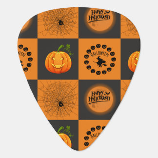 Halloween Chessboard Guitar Pick