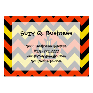 Halloween Chevron Spooky Haunted House Design Business Card