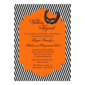 Halloween Chic Masquerade Ball Invitation