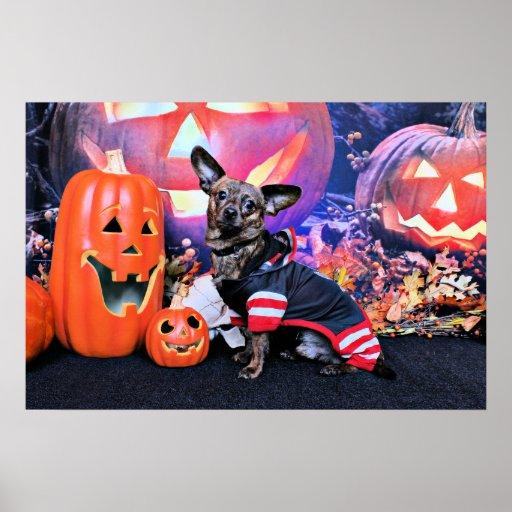 Halloween - Chiweenie - Sherekhan Poster