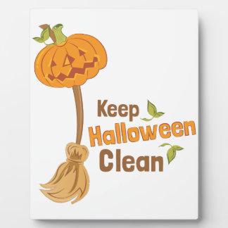 Halloween Clean Photo Plaques