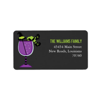 Halloween Cocktail Address Label