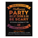 Halloween cocktail(background colour can be 21.5 cm x 28 cm flyer