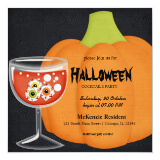 Halloween Cocktail Party Personalized Invitation
