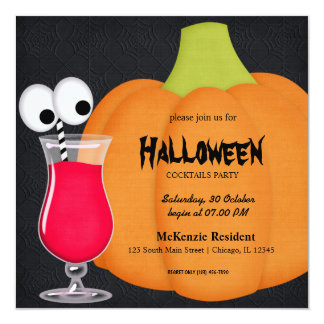 Halloween Cocktail Party Personalized Invitations