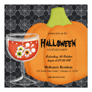 Halloween Cocktail Party Invites