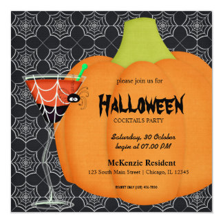 Halloween Cocktail Party Custom Invite