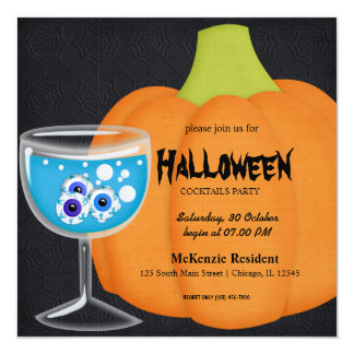 Halloween Cocktail Party Personalized Invites