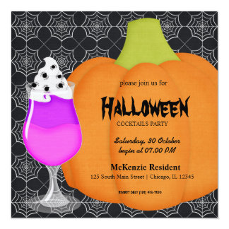 Halloween Cocktail Party Announcement