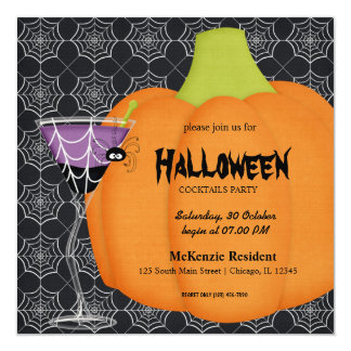 Halloween Cocktail Party Custom Announcements