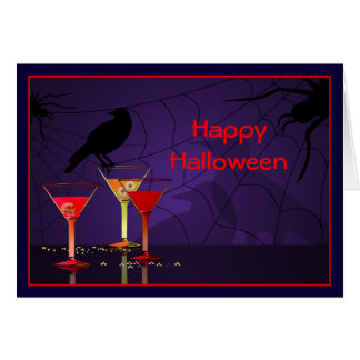 Halloween Cocktails Custom Greeting Card