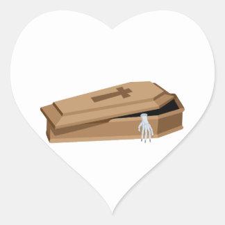 Halloween Coffin Heart Sticker