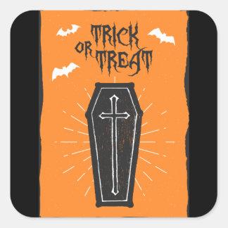 Halloween Coffin Sticker