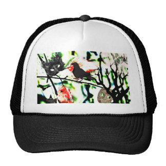 Halloween Collage Mesh Hats