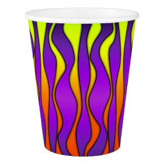 HALLOWEEN COLORED STRIPES PAPER CUP