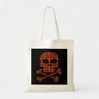 Halloween Colors!  Orange and Black Skulls Tote Bag