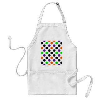 Halloween Colors Polka Dot Pattern Standard Apron