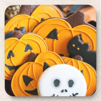 Halloween cookies beverage coasters