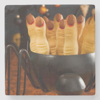 Halloween Cookies - Witch'S Fingers Stone Coaster