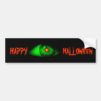 Halloween Cool and Creepy Eye of Witch Bumper Sticker