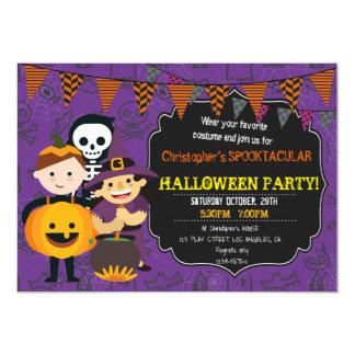HALLOWEEN COSTUME BIRTHDAY PARTY INVITATION