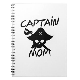 Halloween Costume Captain Mom Pirate Funny Spiral Notebook