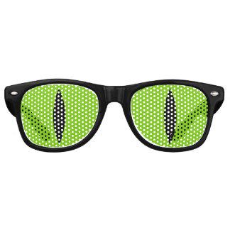 Halloween Costume Cat Witch Eyes Glasses. (Green) Retro Sunglasses