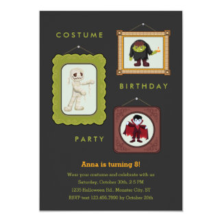 Halloween Costume Kids Birthday Party Invitation