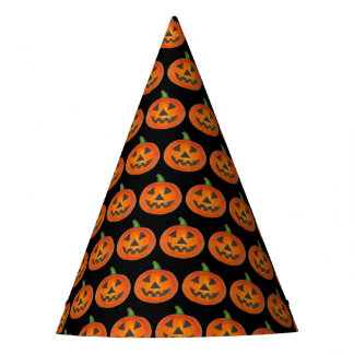 Halloween Costume Orange Pumpkin Jack o' Lantern Party Hat