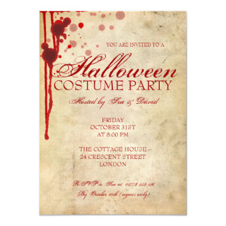 Halloween Costume Party 11 Cm X 16 Cm Invitation Card