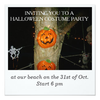 Halloween Costume Party 13 Cm X 13 Cm Square Invitation Card