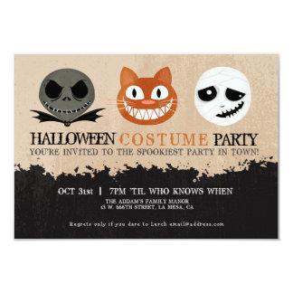 Halloween Costume Party Cute Masks Invitation