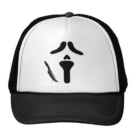 halloween costume shirt ghost face hats