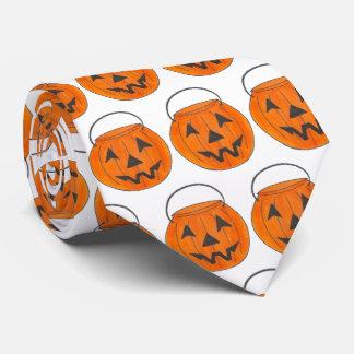 Halloween Costume Trick or Treat Orange Pumpkin Tie